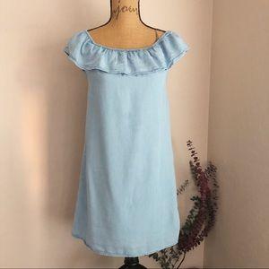 {H&M} Blue Jean Dress youth 100% Lyocell {13-14}